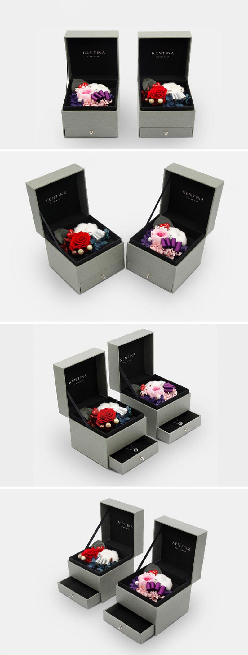 鲜花礼品首饰盒定制