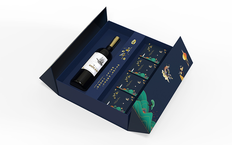 精装红酒礼盒包装,时尚设计很受年轻人喜爱