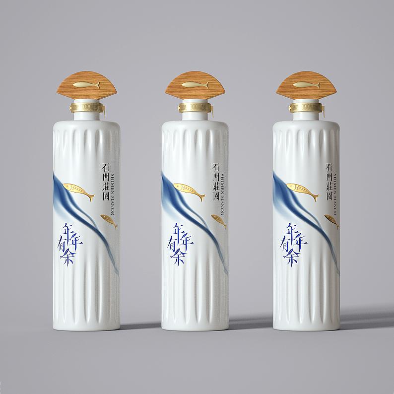 白酒创意中国风礼盒设计