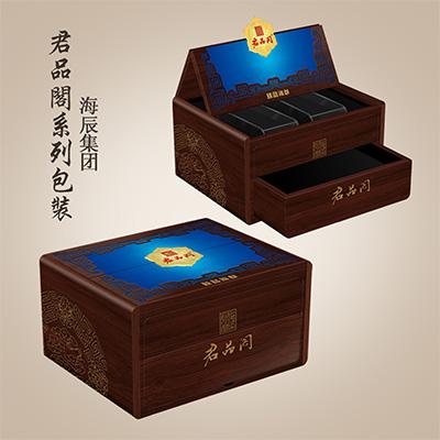 君品阁臻品海参精品木质礼盒